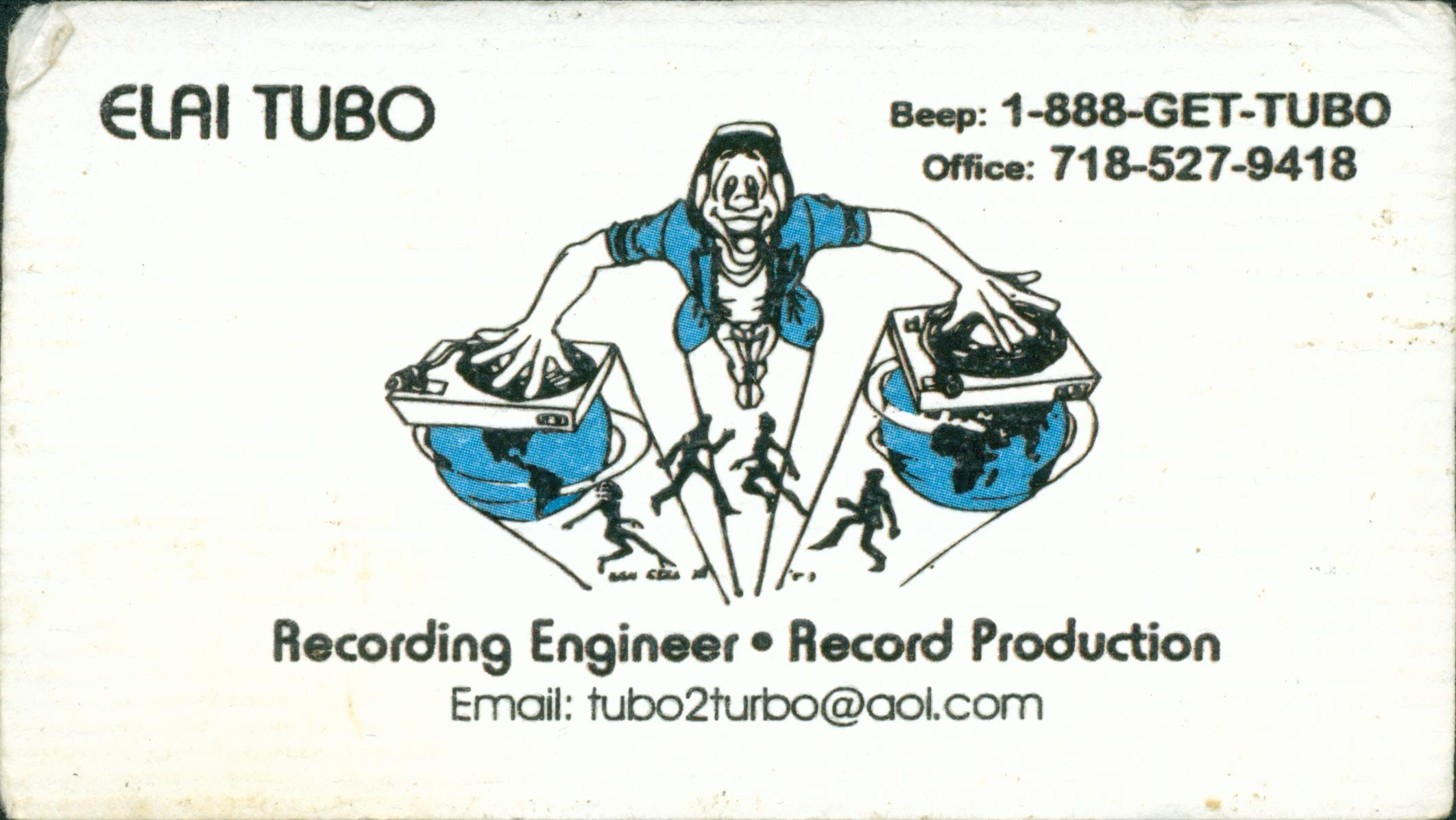 TUBO OLD SCHOOL BUSINESS CARD 2