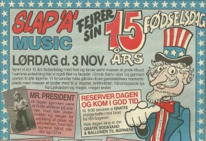 15 year anniversary newspaper ad. Uncle Sam wants you to have cheap records and treats.