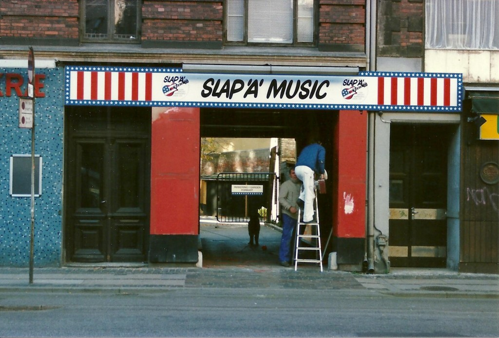 Slap A' Music, 1980s. The guard dog wasn't up to much and only wanted to play ball with burglars.